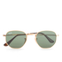 Ray-Ban Hexagonal Metal Frame Sunglasses - Gold/Green: Image 1