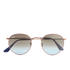 Ray-Ban Round Flat Lenses Gold Frame Sunglasses - Gold/Pink Gradient: Image 1