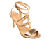 MICHAEL MICHAEL KORS Women's Antoinette Leather Metallic Heeled Sandals - Pale Gold: Image 2