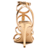 MICHAEL MICHAEL KORS Women's Antoinette Leather Metallic Heeled Sandals - Pale Gold: Image 3