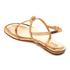 MICHAEL MICHAEL KORS Women's Suki Leather Flat Sandals - Pale Gold: Image 4