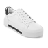 Kendall + Kylie Women's Tyler Leather Flatform Trainers - White/Black: Image 2