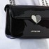 Love Moschino Women's Love Mini Heart Double Chain Strap Shoulder Bag - Black: Image 3