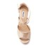Dune Women's Krystal Leather Espadrille Wedged Sandals - Silver: Image 3