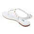Dune Women's Laciee Leather Toe Post Sandals - White: Image 4