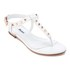 Dune Women's Laciee Leather Toe Post Sandals - White: Image 2
