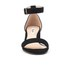 Dune Women's Jaygo Suede Barely There Blocked Heeled Sandals - Black: Image 4