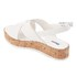 Dune Women's Kriss Leather Flatform Sandals - White: Image 4