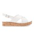 Dune Women's Kriss Leather Flatform Sandals - White: Image 1