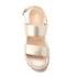 Dune Women's Lacrosse Leather Sling Back Espadrille Sandals - Gold: Image 3
