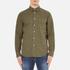 rag & bone Men's Standard Issue Beach Shirt - Dark Olive: Image 1