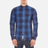Superdry Men's Washbasket Long Sleeve Button Down Shirt - Tylers Check Navy: Image 1