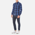 Superdry Men's Washbasket Long Sleeve Button Down Shirt - Tylers Check Navy: Image 4
