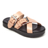 Alexander Wang Women's Kris Leather Double Strap Slide Sandals - Black/Natural: Image 2
