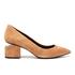 Alexander Wang Women's Simona Suede Block Heeled Court Shoes - Clay: Image 1