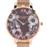 Olivia Burton Women's Poppy Flower Rose Gold Mesh Watch - Rose Gold: Image 3