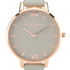 Olivia Burton Women's Big Dial Grey and Rose Gold Watch - Rose Gold: Image 3