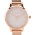 Olivia Burton Women's Rose Gold Mesh Bracelet Watch - Rose Gold: Image 3