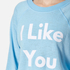 Wildfox Women's There's Always Tomorrow Sweatshirt - Pool Blue: Image 4
