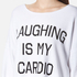 Wildfox Women's Laughing is My Cardio Sweatshirt - Clean White: Image 4