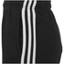 adidas Men's Essential 3 Stripe Fleece Jog Shorts - Black: Image 3