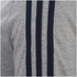 adidas Men's Essential 3 Stripe T-Shirt - Grey Marl: Image 3