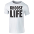 Men's Choose Life Black Logo T-Shirt - White: Image 1