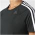 adidas Women's D2M 3 Stripe T-Shirt - Black: Image 8