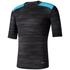 adidas Men's TechFit Base GFX Compression T-Shirt - Black: Image 1