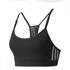 adidas Women's Strappy 3 Stripe Low Support Sports Bra - Black/White: Image 1