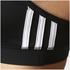 adidas Women's Strappy 3 Stripe Low Support Sports Bra - Black/White: Image 7