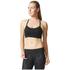 adidas Women's Strappy 3 Stripe Low Support Sports Bra - Black/White: Image 3