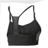 adidas Women's Strappy 3 Stripe Low Support Sports Bra - Black/White: Image 2