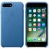 Étui en Cuir pour iPhone 7 Plus -Bleu Mer: Image 1