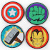 Marvel Comics Set of 4 Coasters: Image 1