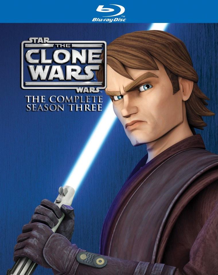 Star Wars Clone Wars Season 3 Blu Ray Zavvi