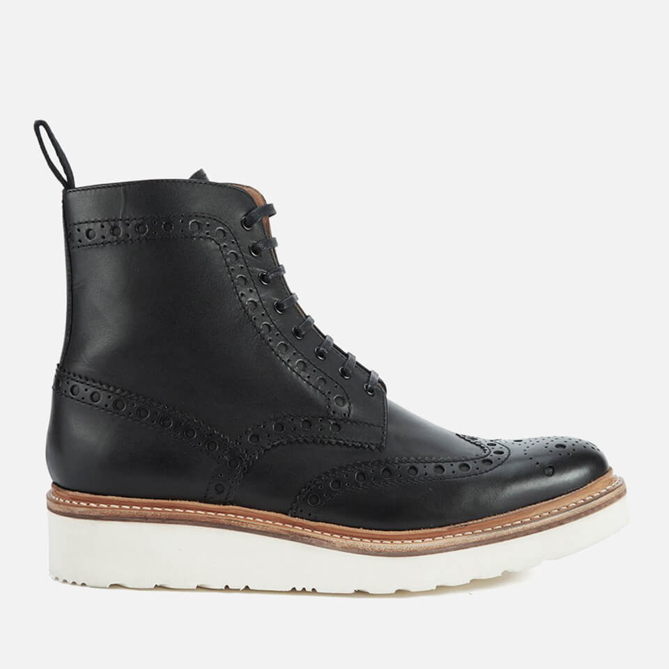 c91b3e0ac0d Grenson Men s Fred V Brogue Boots - Black - Free UK Delivery over £50