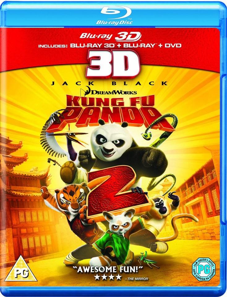 Kung Fu Panda 2 3D (3D Blu-Ray, 2D Blu-Ray and DVD) Blu-ray | Zavvi