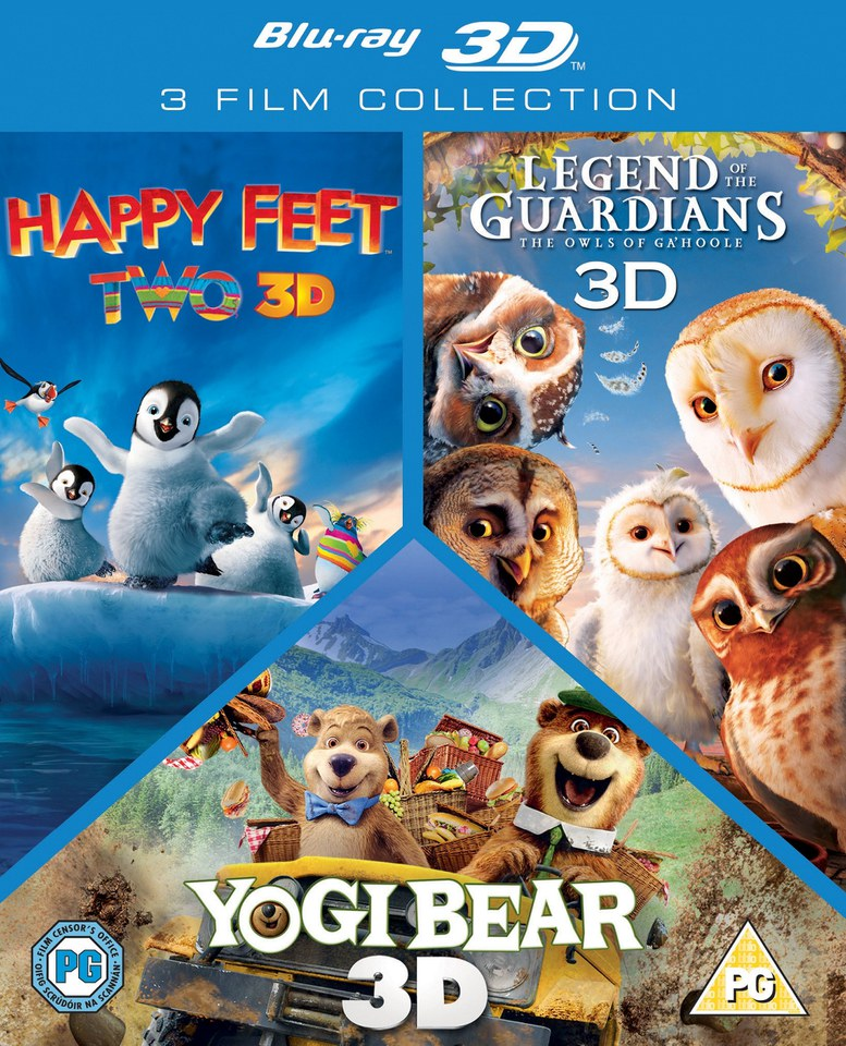 3d Triple Pack Happy Feet 2 Yogi Bear Legend Of The