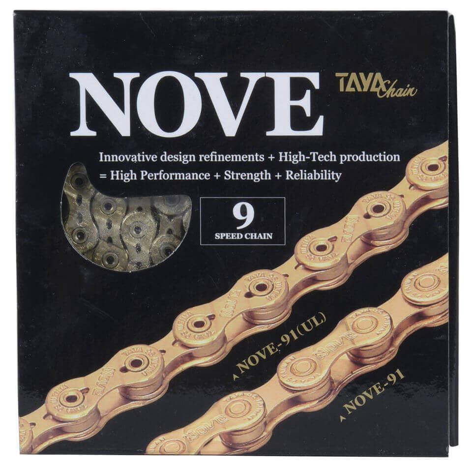 Taya Nove 91UL 116L 9 Speed Bicycle Chain - Ti-Gold | Chains