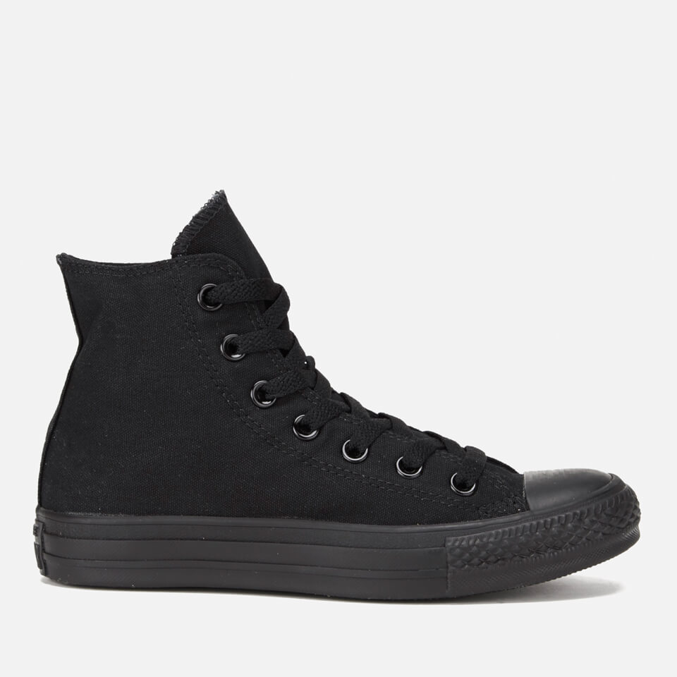 8eaf312af8e2 Converse All Star Canvas Hi-Top Trainers - Black Monochrome