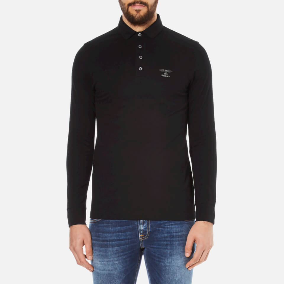 Barbour men 39 s standards long sleeve embroidered polo shirt for Polo shirts with embroidery