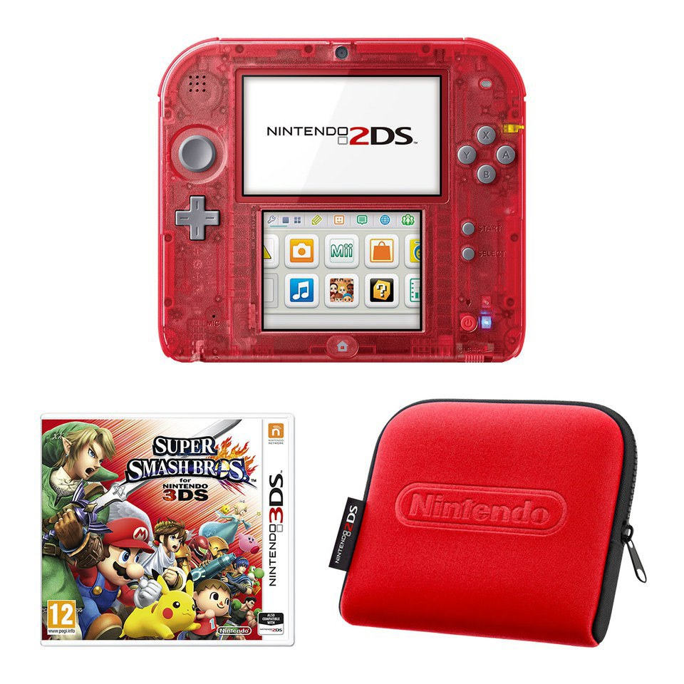 Nintendo 2ds Transparent Red Super Smash Bros For