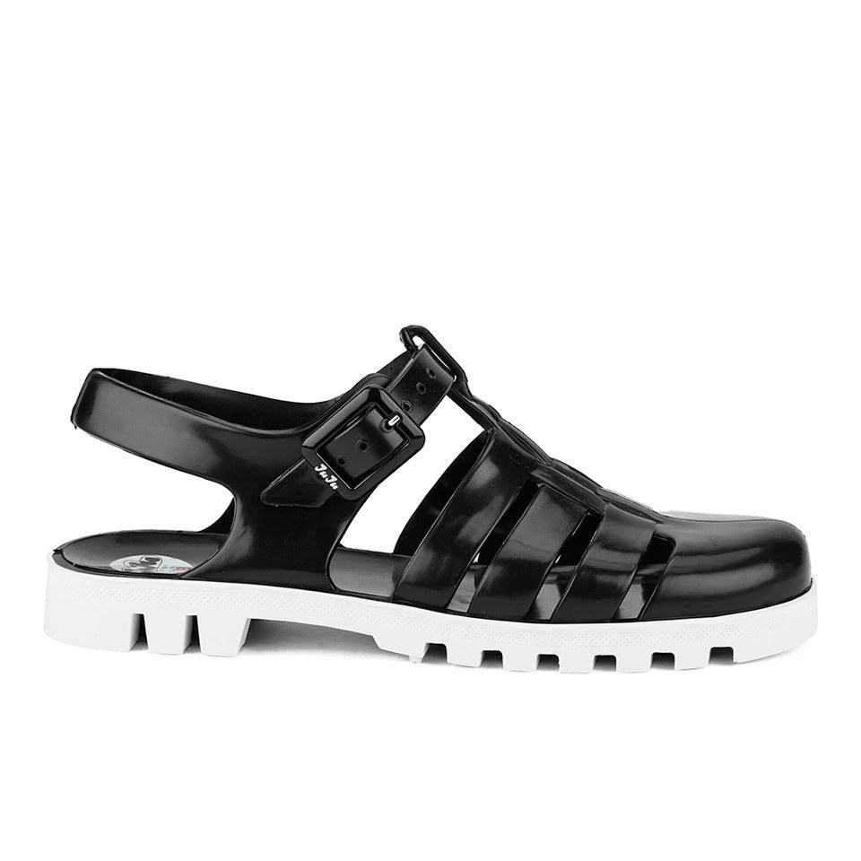 Black juju sandals - Juju Women S Maxi Jelly Sandals Black White Womens Footwear Thehut Com
