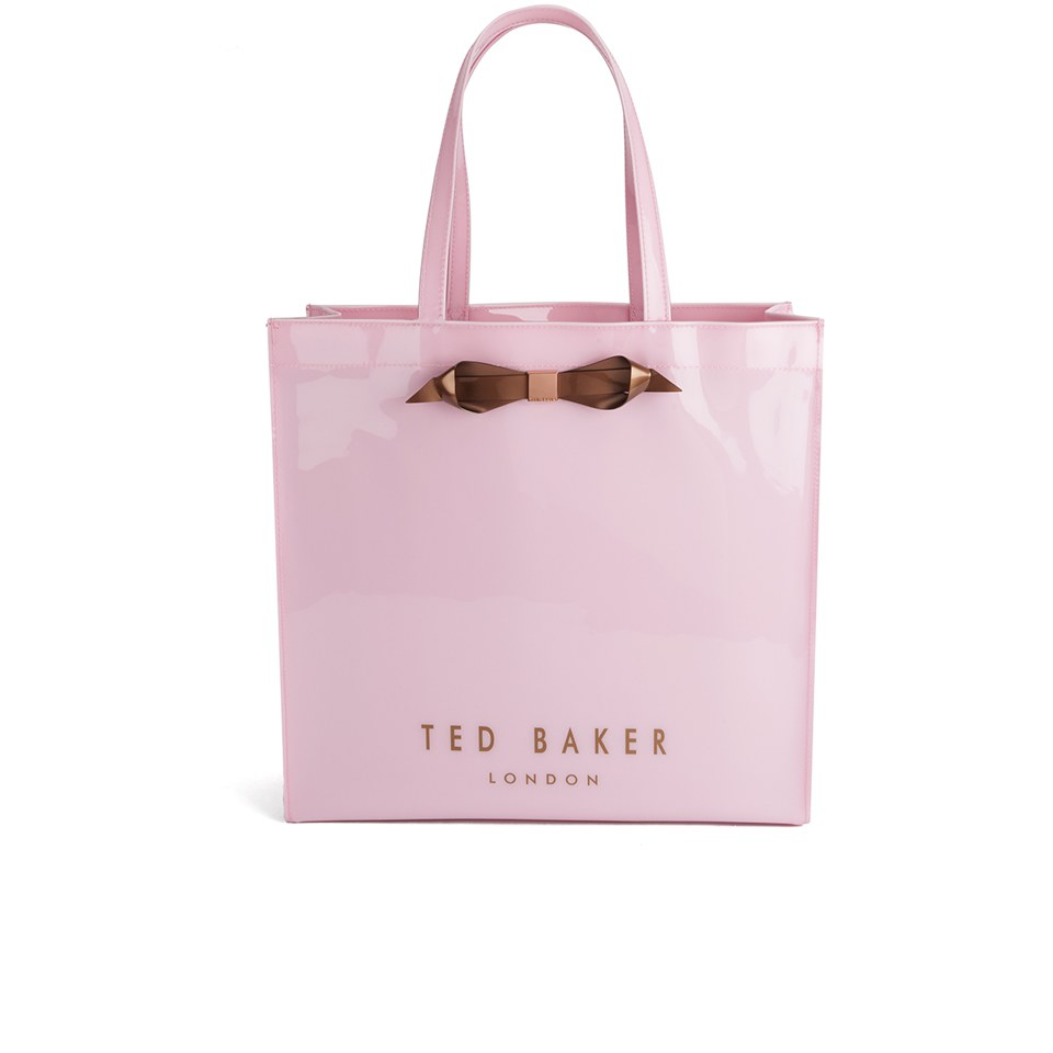 Ted Baker Women S Tedcon Plain Bow Icon Tote Bag Baby Pink