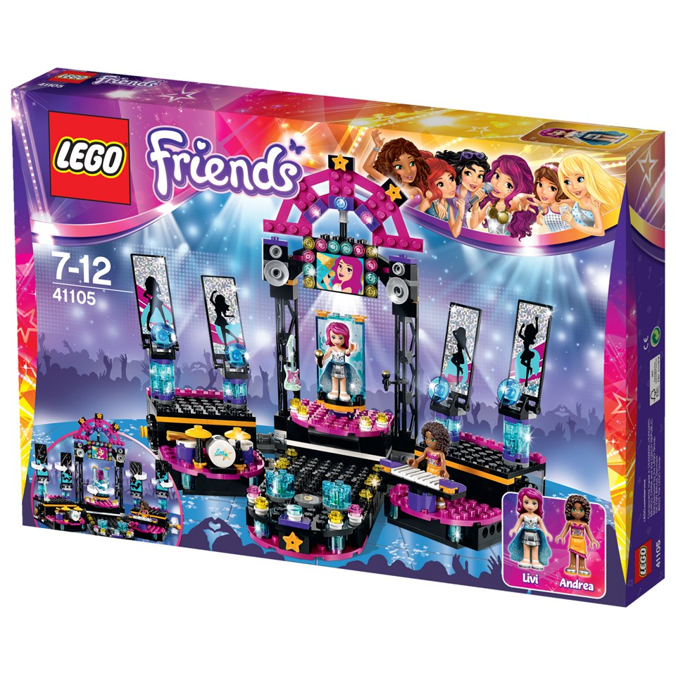 Toys For Friends : Lego friends pop star show stage toys zavvi
