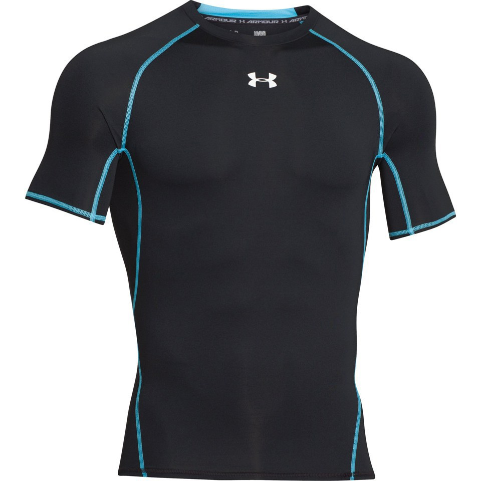 Under armour men 39 s armour heat gear short sleeve training for Mens under armour shirts