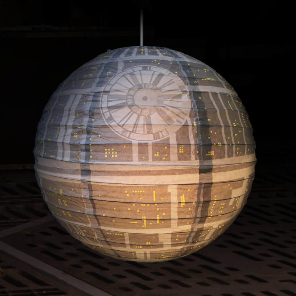 star wars todesstern papier lampenschirm sowia. Black Bedroom Furniture Sets. Home Design Ideas