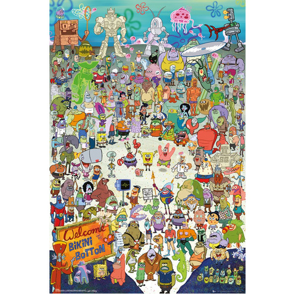 Spongebob Cast - Maxi Poster - 61 X 91.5cm Merchandise