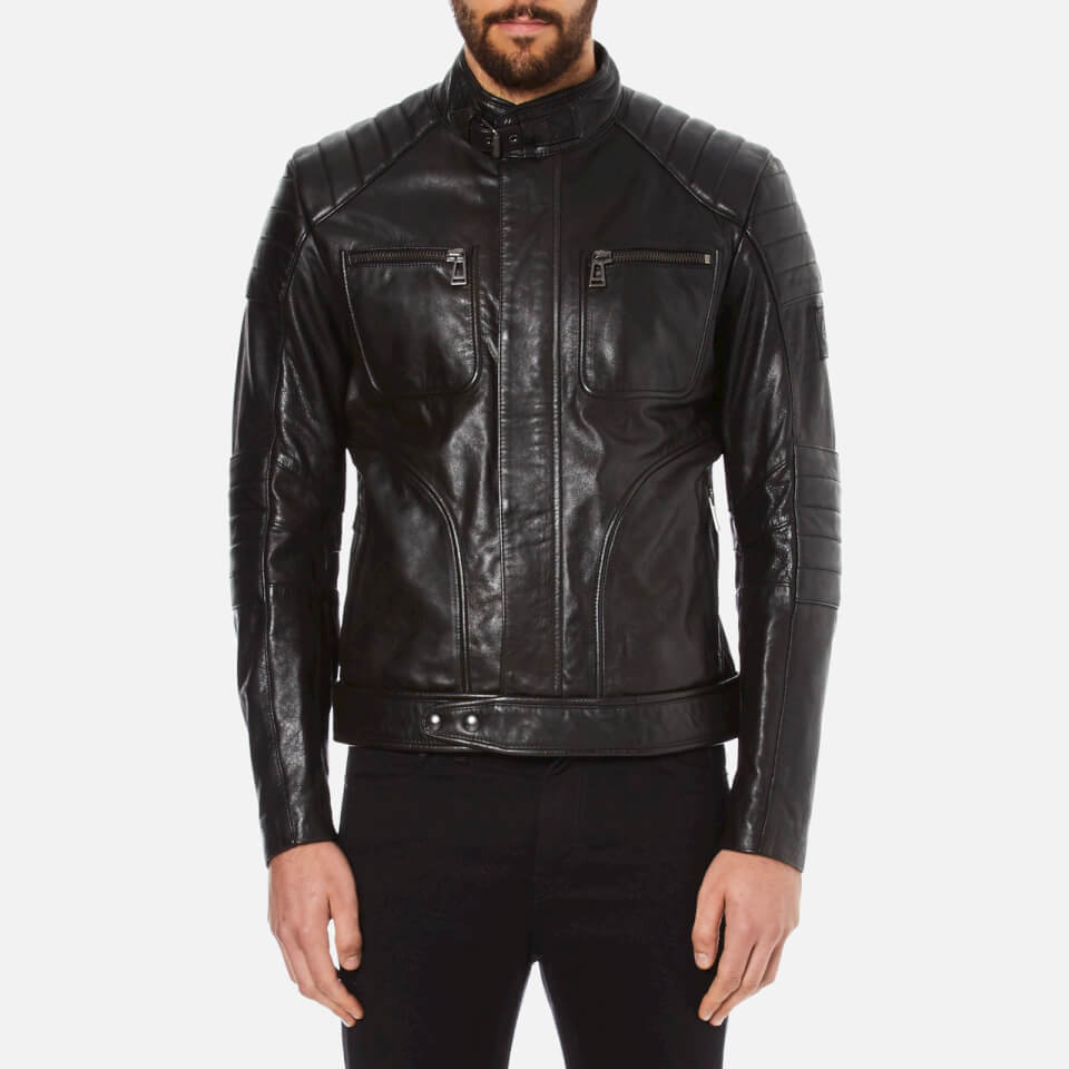belstaff men 39 s weybridge biker jacket black free uk. Black Bedroom Furniture Sets. Home Design Ideas